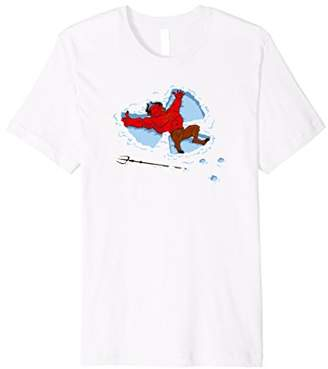 """I Wish I Were"" cute Devil making a Snow Angel t-shirt"