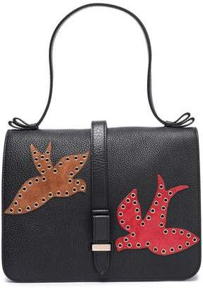 0748a5cec55 Red(V) Red(v) Eyelet-embellished Suede-trimmed Textured-