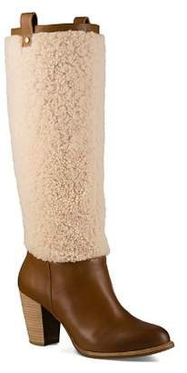 UGG Ava Sheepskin and Leather Tall Boots