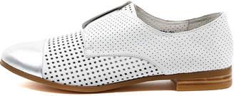 Django & Juliette Jacca Silver-white Shoes Womens Shoes Casual Flat Shoes