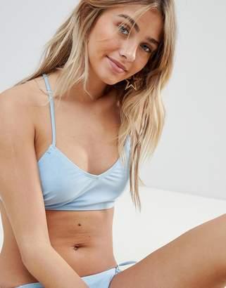PrettyLittleThing Cross Back Cami Strap Bikini Top