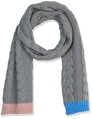 Under Zero Women's Pink Blue Grey Acrylic Knitted Scarf