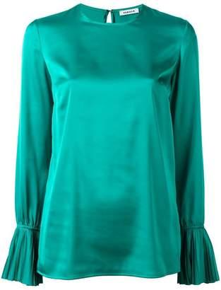 P.A.R.O.S.H. pleated trim blouse