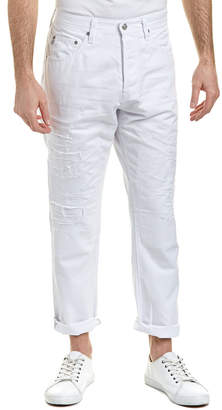 AG Jeans The Apex 15 Years White Reversed Drop-Raised Tapered Leg