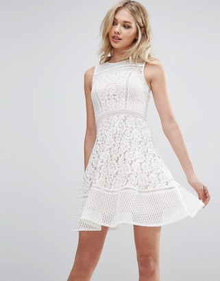 Glamorous Lace Skater Dress $45 thestylecure.com