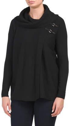 Merino Wool Textured Flyaway Cardigan