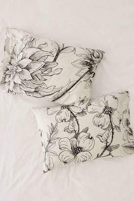 Makenna Etched Floral Jersey Pillowcase Set