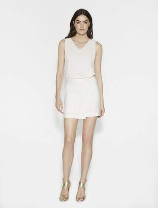 Halston Faux Wrap Mini Skirt