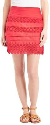 Eyelet lace mini skirt $59.95 thestylecure.com