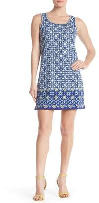 Max Studio Patterned Keyhole Back Dress