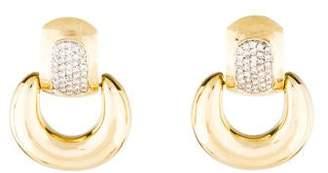 14K Diamond Removable Hoop Earrings