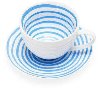 Moma Blue Spirals Teacup & Saucer (Set of 2)