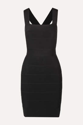 Herve Leger Cutout Bandage Mini Dress - Black