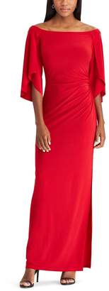Chaps Women's Off-the-Shoulder Evening Gown