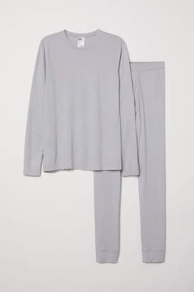 H&M Thermal Base Layer Set - Gray
