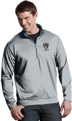 Antigua Men's Brooklyn Nets Leader Pullover