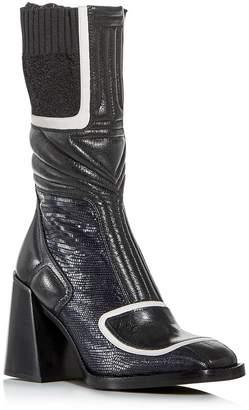 Chloé Women's Bell Square-Toe Block-Heel Boots