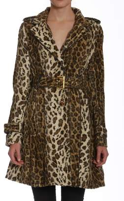 Members Only Faux-Fur Leopard Trench $198 thestylecure.com