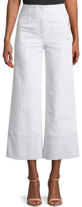 Cinq à Sept Marla High-Waist Wide-Leg Denim Pants