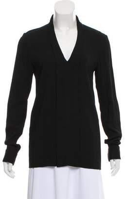 Calvin Klein Collection Long Sleeve V-Neck Top