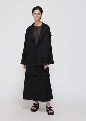 Yohji Yamamoto Asymmetry Gabardine Jacket