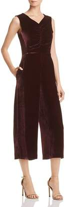 Rebecca Taylor Cropped Velvet Jumpsuit - 100% Exclusive