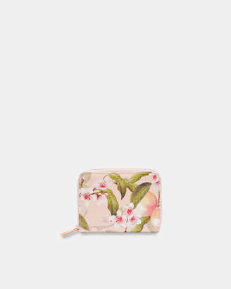 Ted Baker IVY Peach Blossom small zip wallet
