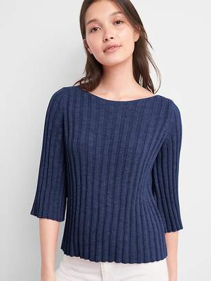 Gap Fluted Sleeve Pullover Sweater