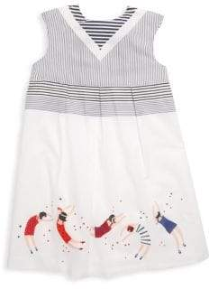 Catimini Little Girl's & Girl's Embroidered Tunic Dress