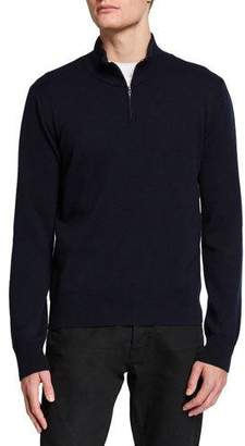 The Row Men's Dexter Half-Zip Cashmere Sweater