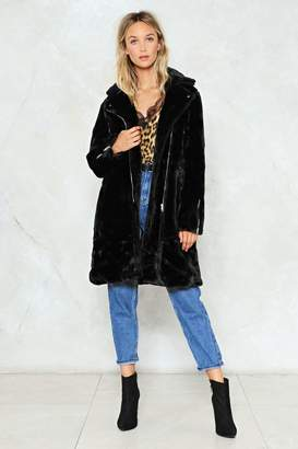 Nasty Gal Lose Touch Faux Fur Jacket