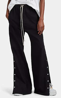 Rick Owens Women's Cotton Wide-Leg Tear-Away Jogger Pants - Black