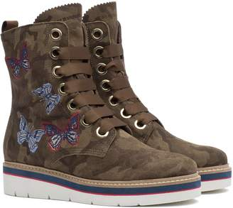 Tommy Hilfiger Suede Camo Boot