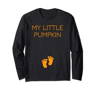 Womens My Little Pumpkin Pregnancy Long TShirt for Women