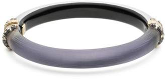 Alexis Bittar Crystal Detail Lucite Hinge Bracelet