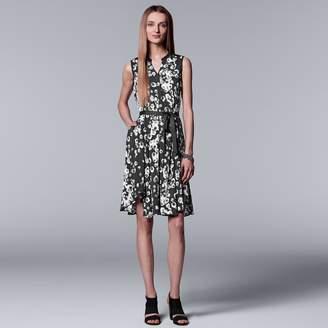 Vera Wang Women's Simply Vera Print Shirt Dress