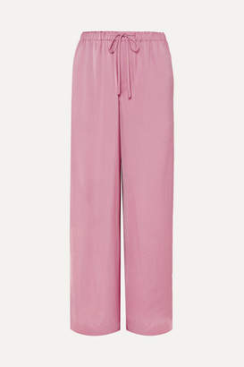 Vince Satin Wide-leg Pants - Antique rose