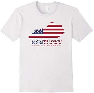 Kentucky USA Flag July 4 T-Shirt Red Blue Shirt