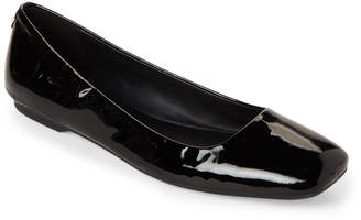 Calvin Klein Black Enith Patent Leather Flats
