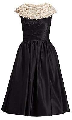 c1242ebed7 Marchesa Women s Pearl-Embellished Off-the-Shoulder A-Line Dress