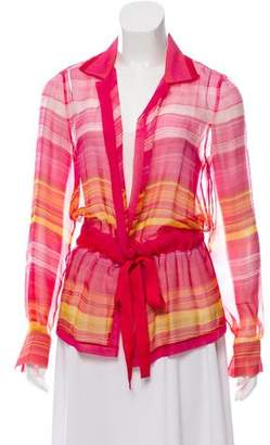 Akris Silk Striped Top