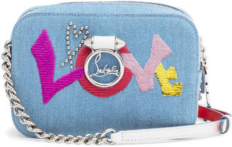 Christian Louboutin Rubylou Mini Denim Shoulder Bag