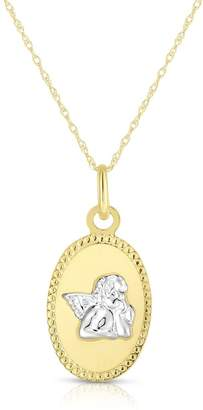 Sphera Milano 14K Two-Tone Gold Angel Pendant Necklace