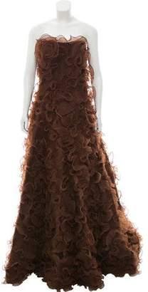 Jovani Ruffle-Trimmed Sleeveless Gown
