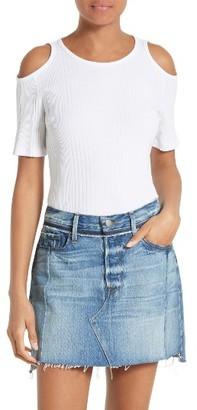 Women's Frame Cold Shoulder Tee $135 thestylecure.com