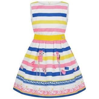 Byblos ByblosGirls Striped Sweet Treats Dress