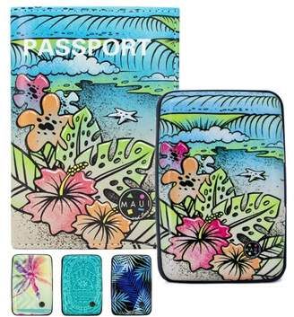 MAUI AND SONS Maui and Sons RFID Protected Wallet and Passport Cover Set - Prevent Electronic Theft