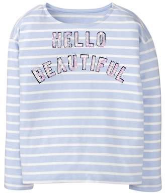 Crazy 8 Hello Beautiful Stripe Tee