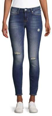 Calvin Klein Distressed Skinny Jeans