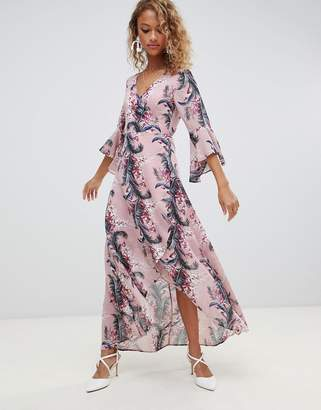 690881d48f Maxi Dress Floral Wrap - ShopStyle UK